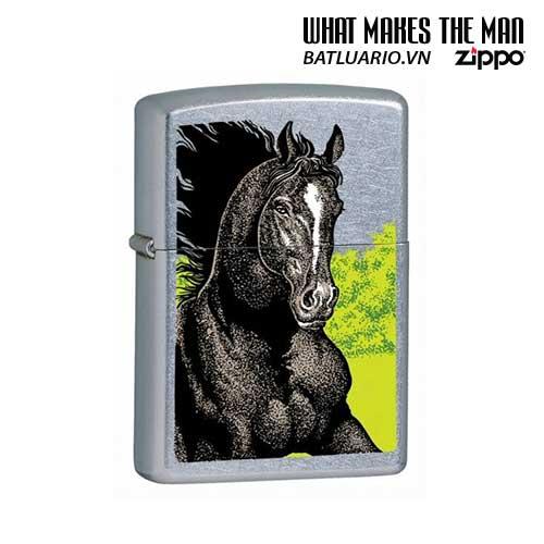 Zippo 24312 - Zippo Black Horse Street Chrome