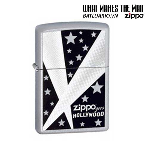 Zippo 24324 – Zippo Hollywood Lights Satin Chrome