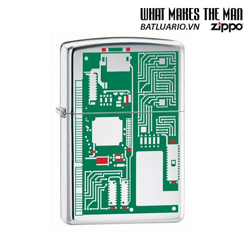 Zippo 24329 - Zippo Circuit Board Polished Chrome