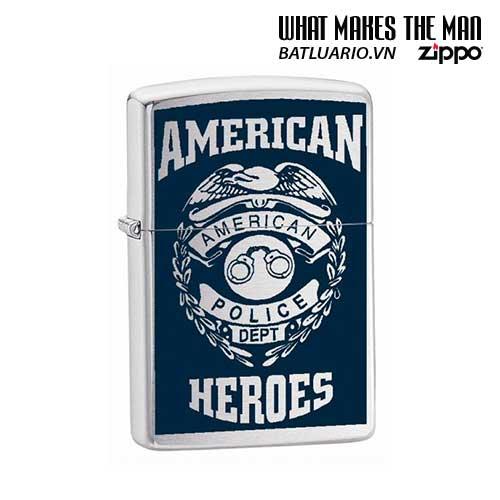 Zippo 24353 - Zippo American Heroes Police Street Chrome