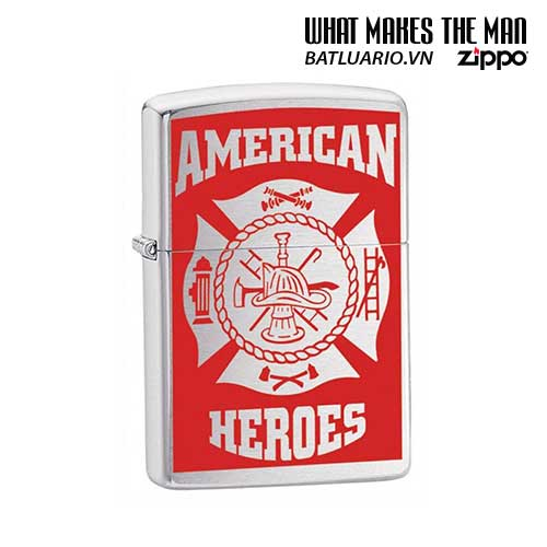 Zippo 24354 - Zippo Classic American Hero Firefighter Street Chrome