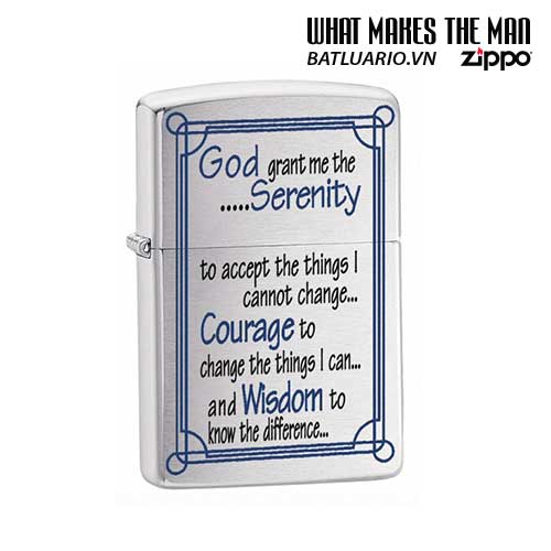 Zippo 24355 - Zippo Serenity Prayer Brushed Chrome