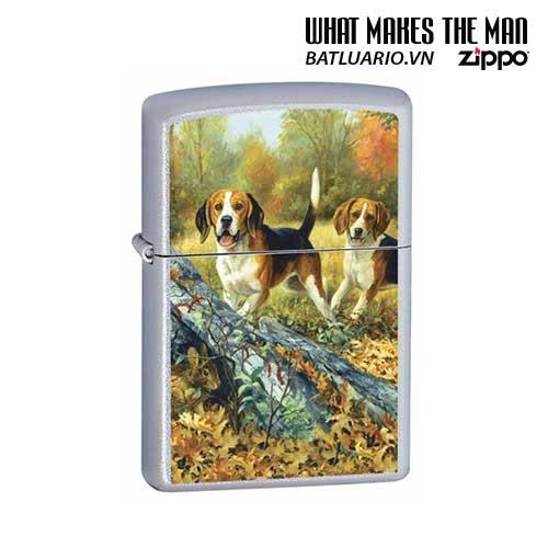 Zippo 24411 - Zippo Linda Picken Beagles Satin Chrome
