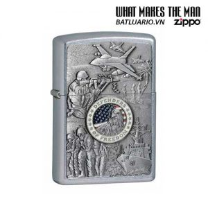 Zippo 24457 - Zippo Joined Forces Emblem Street Chrome