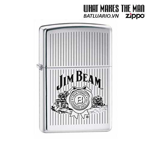 Zippo 24551 - Zippo Jim Beam HP Chrome Windproof Lighter
