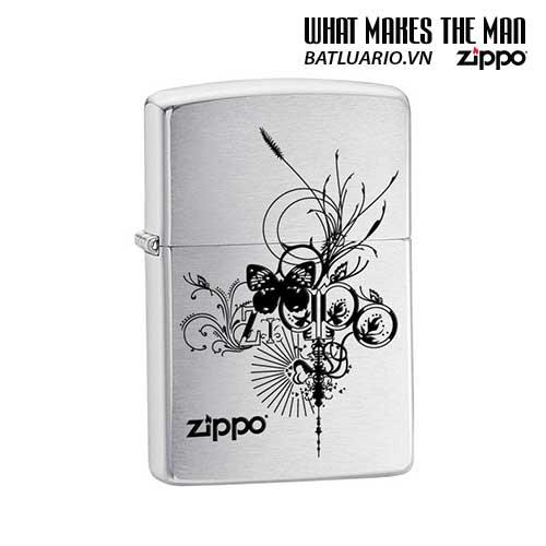 Zippo 24800 - Zippo Butterfly Brushed Chrome