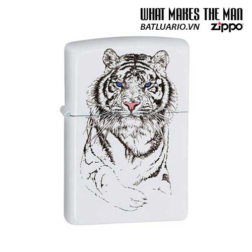 Zippo 24810 - Zippo White Tiger Matte