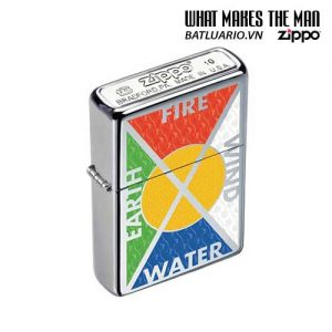 Zippo 24812 - Zippo Bottomz Up Fire Wind Earth Water