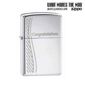 Zippo 24878 - Zippo Congratulations Polished Chrome