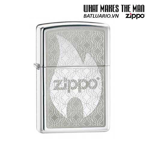 Zippo 24942 - Zippo Hidden Flame in High Polish Chrome