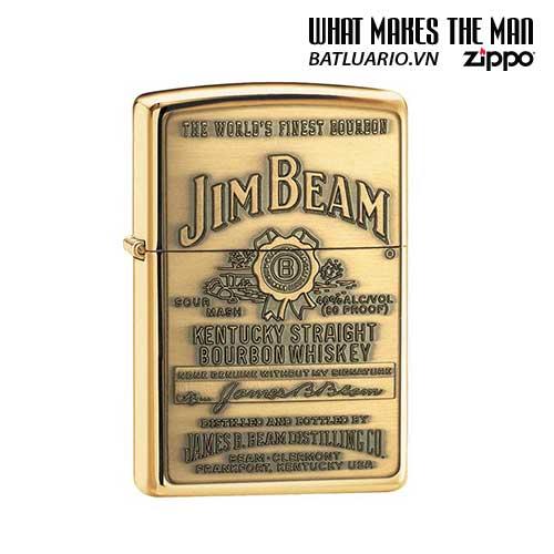 Zippo 254BJB.929 - Zippo Jim Beam Brass Emblem