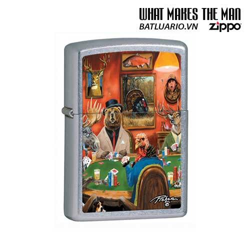 Zippo 28006 - Zippo Linda Picken Animal Card Table Street Chrome