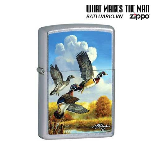 Zippo 28009 - Zippo Linda Picken Flying Ducks Street Chrome