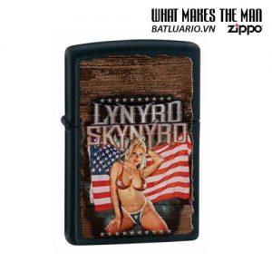 Zippo 28022 - Zippo Lynyrd Skynyrd American Magnet Girl Black Matte