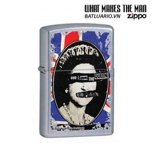 Zippo 28024 - Zippo Sex Pistols God Save the Queen Street Chrome