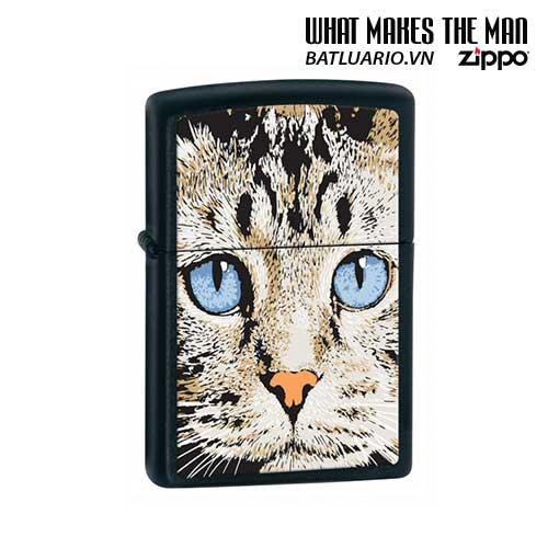 Zippo 28040 - Zippo Blue Eyed Cat Black Matte