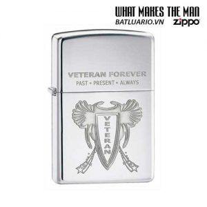 Zippo 28054 - Zippo Veteran Forever High Polish Chrome