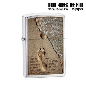 Zippo 28180 - Zippo Footprints in the Sand Brushed Chrome