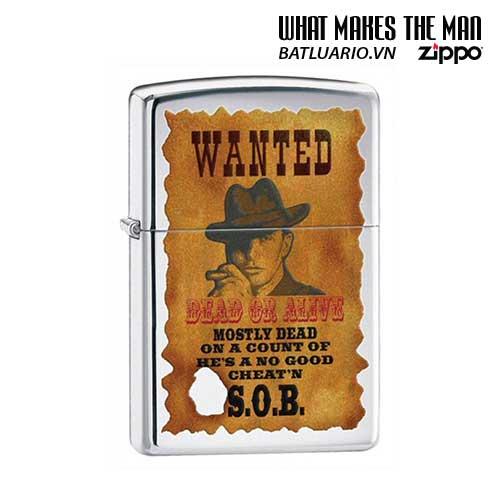 Zippo 28289 - Zippo Wanted Poster High Polish Chrome