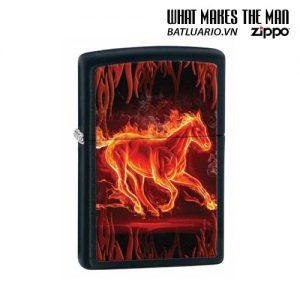 Zippo 28304 - Zippo Horse Flaming Black Matte