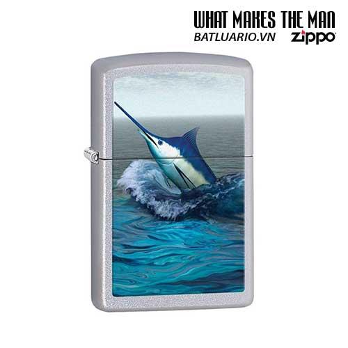 Zippo 28444 - Zippo Blue Marlin Satin Chrome