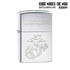 Zippo 28478 - Zippo US Marines Polished Chrome