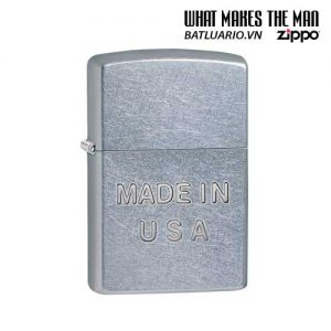 Zippo 28491 - Zippo Made in USA Stamp Street Chrome