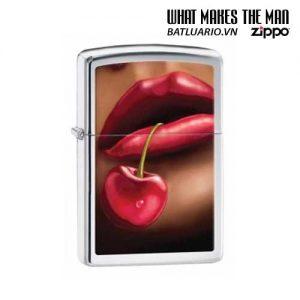 Zippo 28655 - Zippo Lips Cherries High Polish Chrome