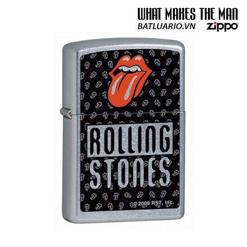 Zippo Zippo 24544 - Rolling Stones Lips & Tongue Logo Street Chrome