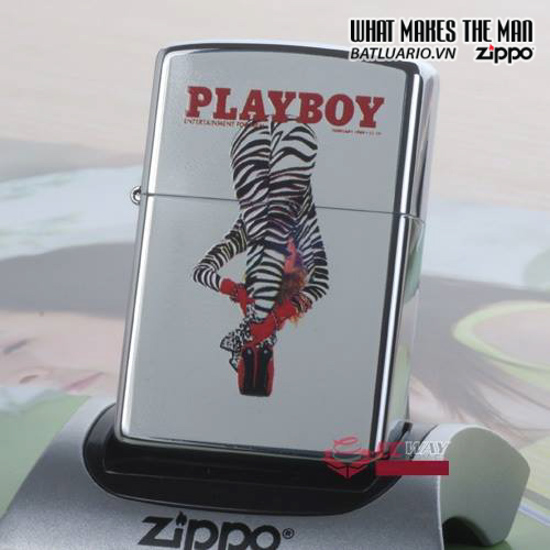 Zippo 20498 – Zippo Playboy Magazine Cover Zebra Pants 1