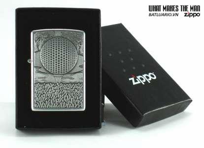 Zippo 21029 – Zippo 19th Hole Emblem Street Chrome 2