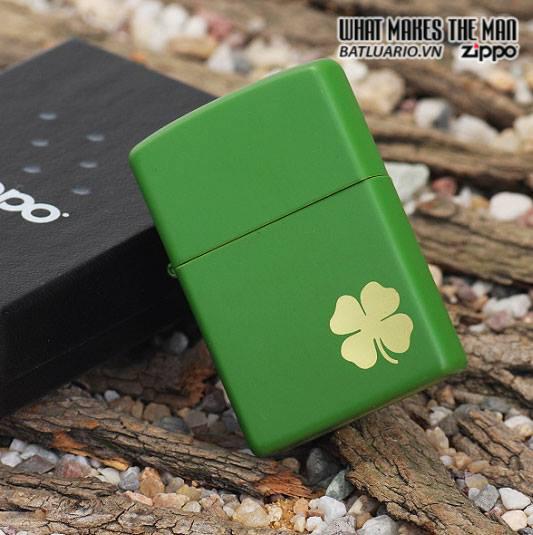 Zippo 21032 – Zippo Lucky Clover – Shamrock Green Matte 2