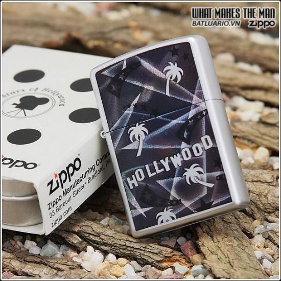 Zippo 21036 – Zippo Hollywood Palm Trees Satin Chrome 1