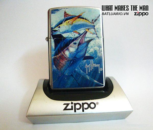 Zippo 21050 – Zippo Guy Harvey Point Blank Brushed Chrome 2