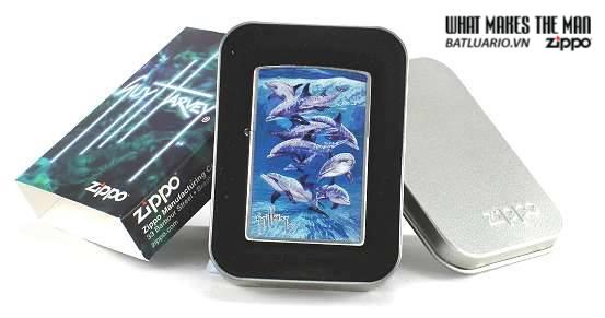 Zippo 21051 – Zippo Guy Harvey Dolphin Brushed Chrome 2
