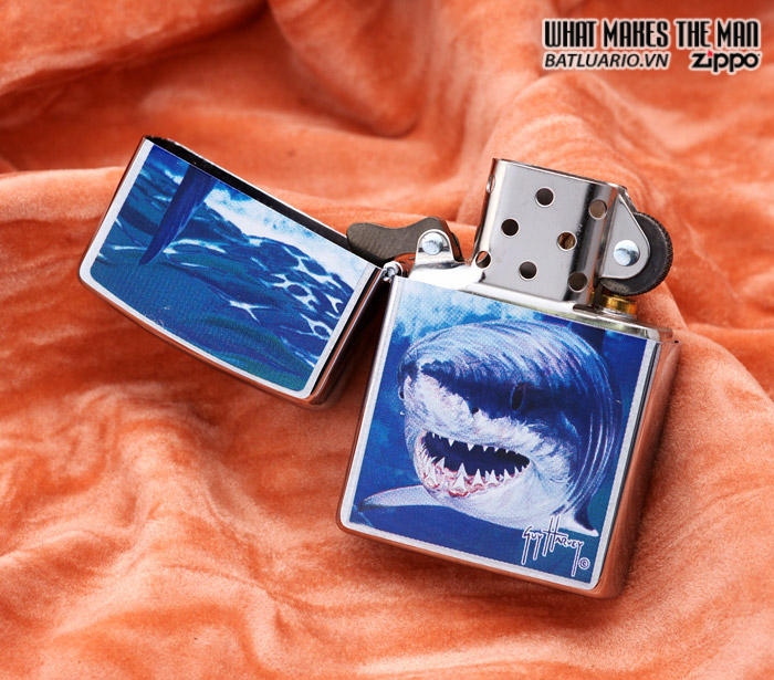 Zippo 21052 – Zippo Guy Harvey Shark Brushed Chrome 1