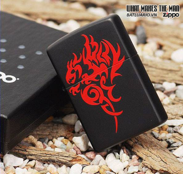 Zippo 21067 – Zippo Hidden Dragon Black Matte 1