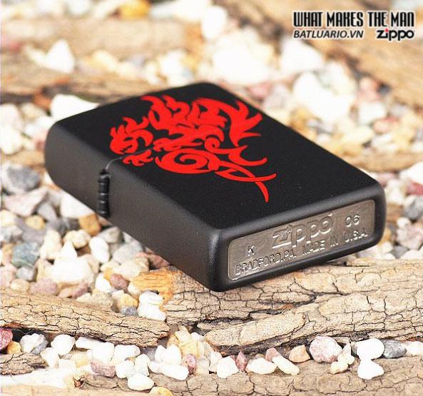 Zippo 21067 – Zippo Hidden Dragon Black Matte 2
