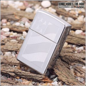 Zippo 21068 – Zippo Old Glory High Polish Chrome