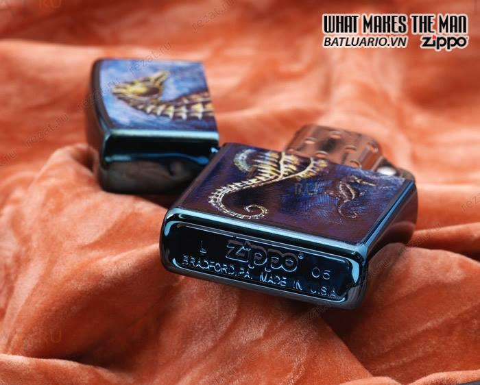 Zippo 21075 – Zippo Sea Horse Sapphire 1