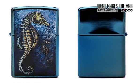Zippo 21075 – Zippo Sea Horse Sapphire
