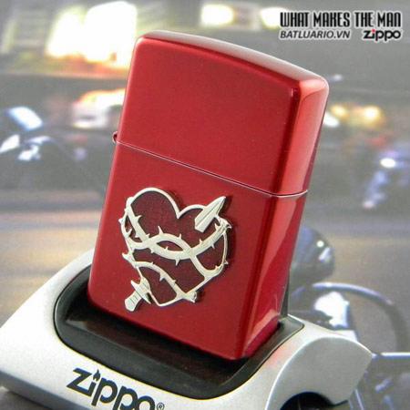 Zippo 21081 – Zippo Heart Attack Candy Apple Red 2