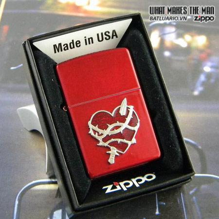 Zippo 21081 – Zippo Heart Attack Candy Apple Red