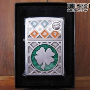 Zippo 21152 – Zippo Luck of The Irish Emblem Satin Chrome 2