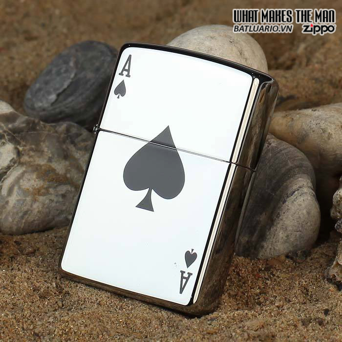Zippo 24011 – Zippo Lucky Ace High Polish Chrome 1