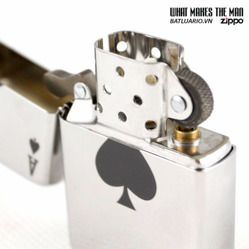 Zippo 24011 – Zippo Lucky Ace High Polish Chrome