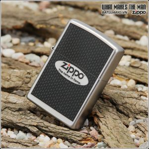 Zippo 24035 – Zippo Name in Flame Satin Chrome