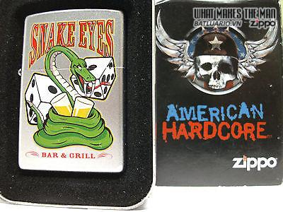 Zippo 24262 – Zippo Snake Eyes American Hardcore Satin Chrome