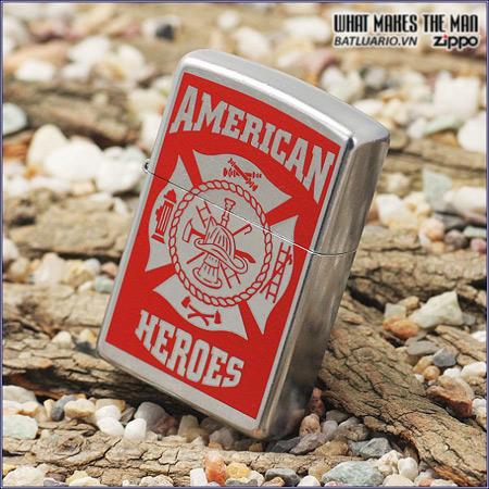 Zippo 24354 – Zippo Classic American Hero Firefighter Street Chrome