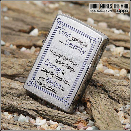 Zippo 24355 – Zippo Serenity Prayer Brushed Chrome